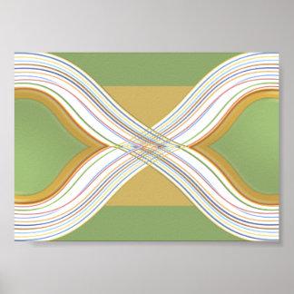 Paisaje verde moderno - Vision artístico Póster