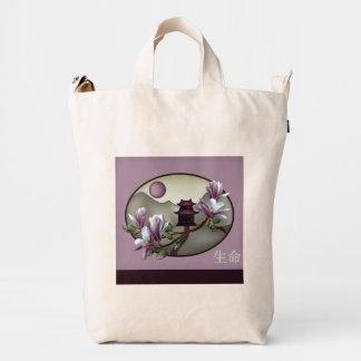 """Paisaje """"vida """" de la pagoda de la magnolia bolsa de lona duck"""