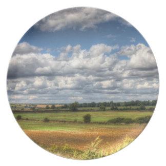 Paisaje Vista del campo Platos Para Fiestas