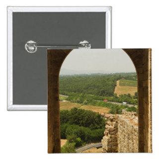 Paisaje visto a través de una arcada, Porta Pin Cuadrado
