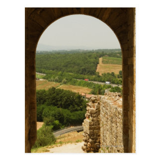Paisaje visto a través de una arcada, Porta Tarjetas Postales
