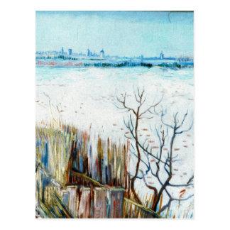 Paisaje w Arles, invierno de Van Gogh Nevado del v