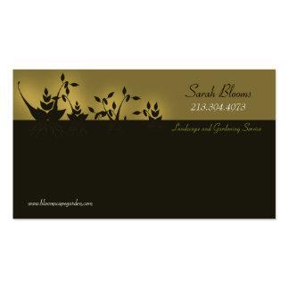 Paisaje y el cultivar un huerto \ tarjeta de visit plantilla de tarjeta de negocio