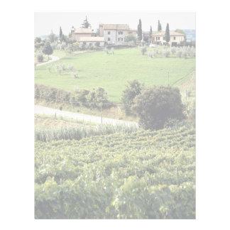 Paisaje y granja Toscana Italia Europa Membretes Personalizados
