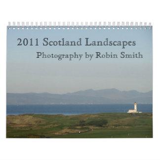 Paisajes 2011 de Escocia Calendarios