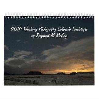 Paisajes 2016 de Colorado de la fotografía de Calendario