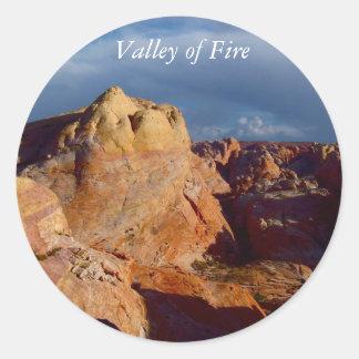Paisajes americanos del desierto:  Valle del fuego Pegatina Redonda