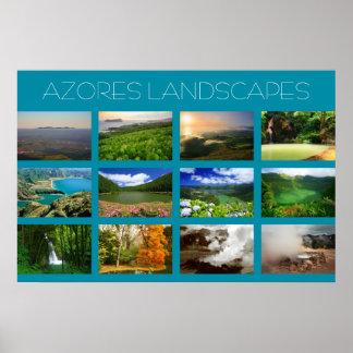 Paisajes de Azores Póster