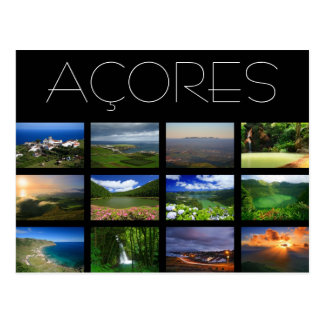 Paisajes de Azores Tarjeta Postal