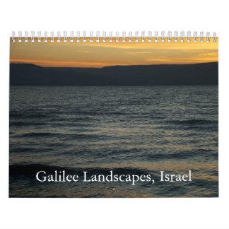 Paisajes de Galilea, Israel Calendario