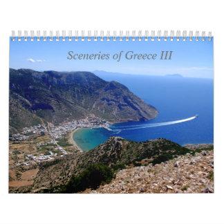 Paisajes de Grecia Calendarios De Pared