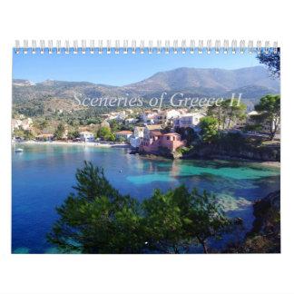 Paisajes de Grecia II Calendario De Pared
