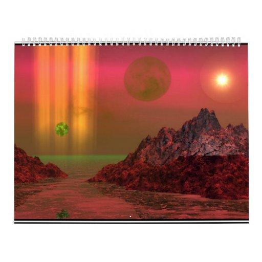 Paisajes de la fantasía del calendario