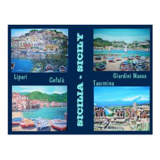 Paisajes de Sicilia - postal