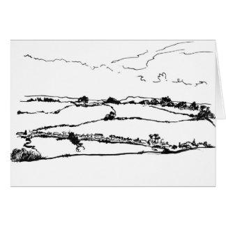 paisajes del balanceo tarjeta de felicitación