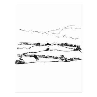 paisajes del balanceo tarjetas postales