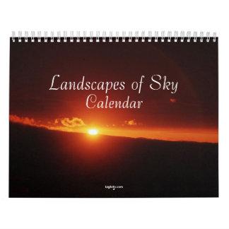 paisajes del calendario del cielo