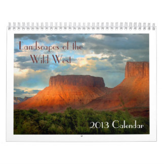 Paisajes del calendario salvaje del oeste 2013