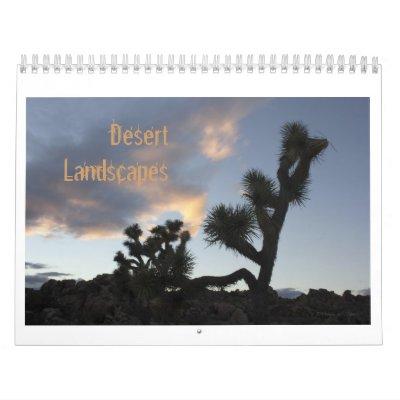 Paisajes del desierto calendario