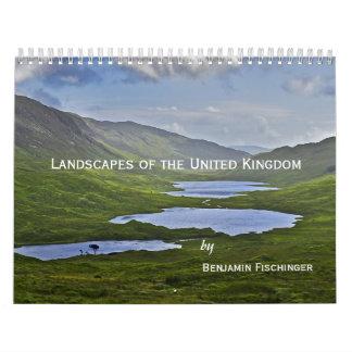 Paisajes del Reino Unido Calendario De Pared