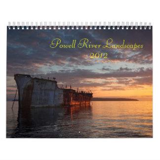 Paisajes del río de Powell Calendario