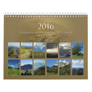 paisajes el pipe% hermosos del 2016% de Polonia Calendario De Pared