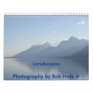 Paisajes. Fotografía del JR del agujero de Bob Calendario De Pared
