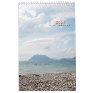 paisajes griegos calendarios de pared
