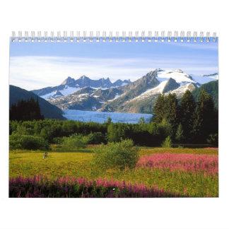 Paisajes hermosos del mundo calendario de pared