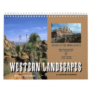 Paisajes occidentales calendarios