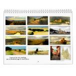 Paisajes pintados a lo largo del Camino de Calendario De Pared