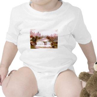 Paisajes románticos de la cascada de las cascadas  traje de bebé