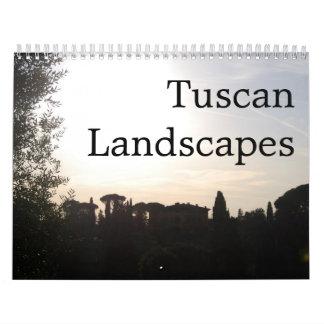Paisajes toscanos calendarios