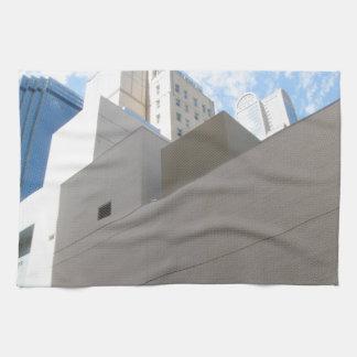 Paisajes urbanos toalla de mano