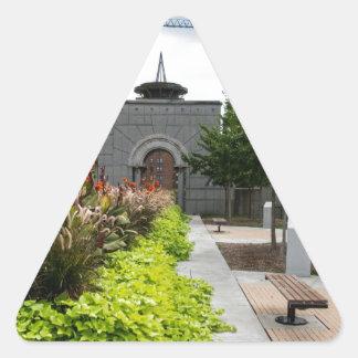 Paisajes urbanos pegatina triangular