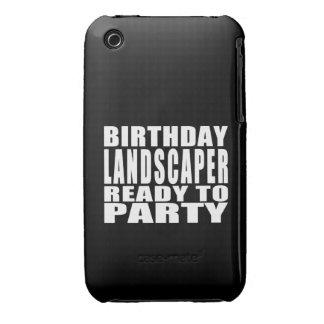 Paisajistas: Paisajista del cumpleaños listo para Case-Mate iPhone 3 Cárcasa