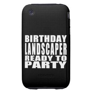 Paisajistas: Paisajista del cumpleaños listo para iPhone 3 Tough Fundas