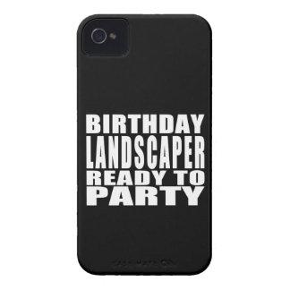 Paisajistas: Paisajista del cumpleaños listo para iPhone 4 Case-Mate Carcasa