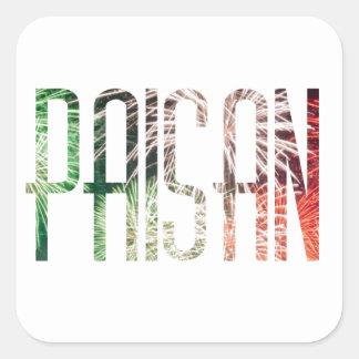 Paisan Square Sticker