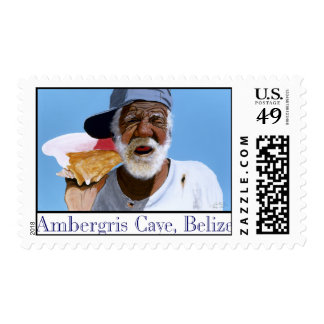 Paisano on his shell phone postage stamps
