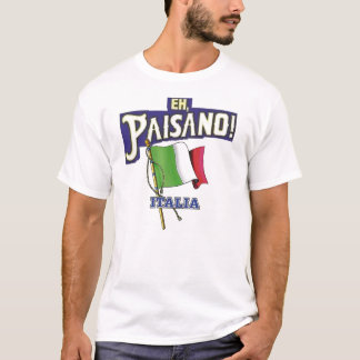 Paisano with Italian Flag T-Shirt