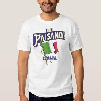 Paisano with Italian Flag T Shirts