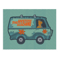 Paisely Scooby-Doo Driving Mystery Machine Postcard