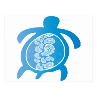 Paisely-Shell-Turtle Post Card