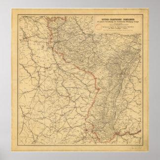 Países alemanes-francés de la frontera por G Lang  Poster