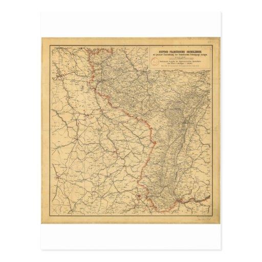 Países alemanes-francés de la frontera por G Lang Tarjetas Postales