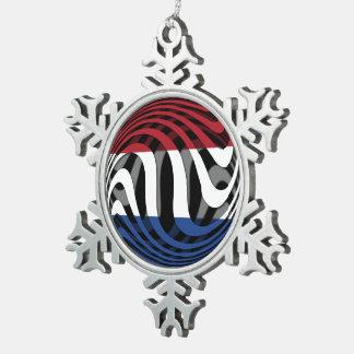 Países Bajos #1 Adorno De Peltre En Forma De Copo De Nieve