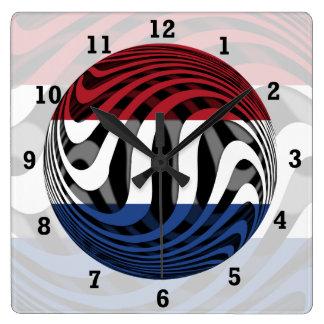 Países Bajos #1 Reloj Cuadrado