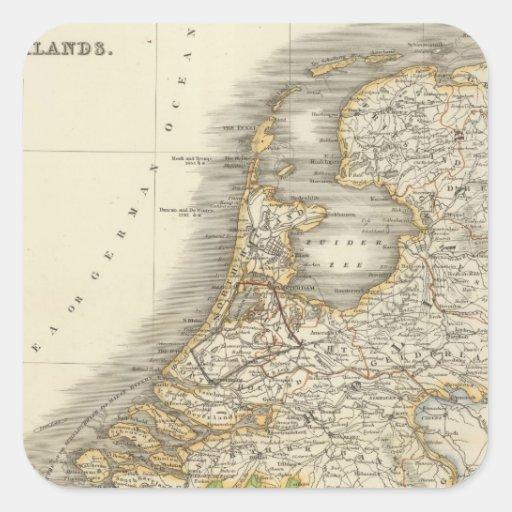 Países Bajos 2 Pegatina Cuadrada