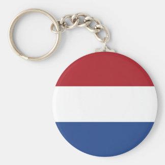 Países Bajos, bandera Llavero Redondo Tipo Pin